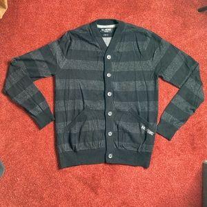 Billabong Medium Cardigan Striped Med Black Grey